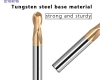 Ball nose end mill 2 flute 60HRC