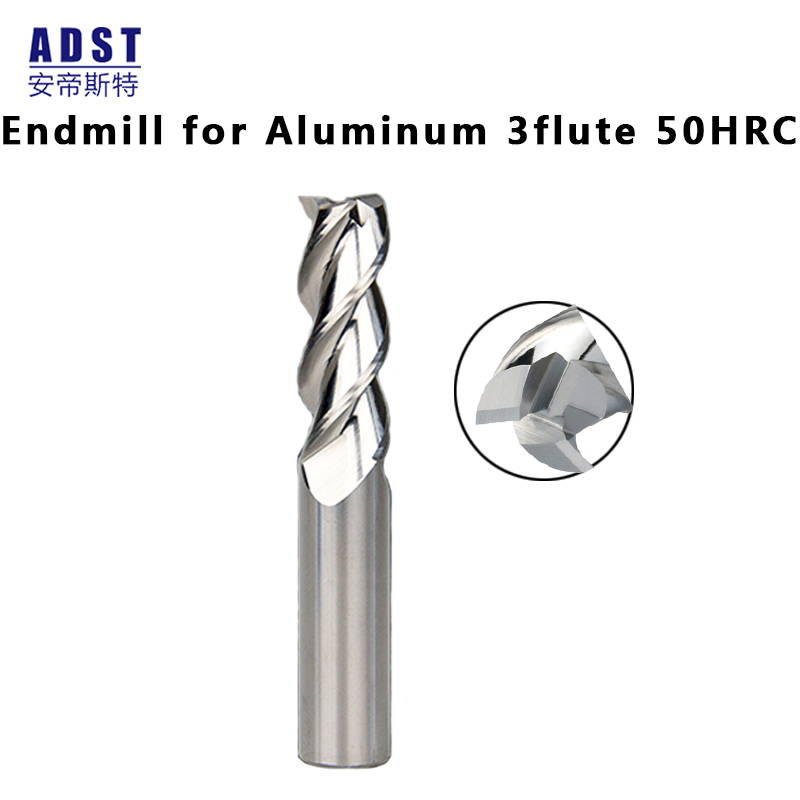 end mill for Aluminum3 flute 50HRC